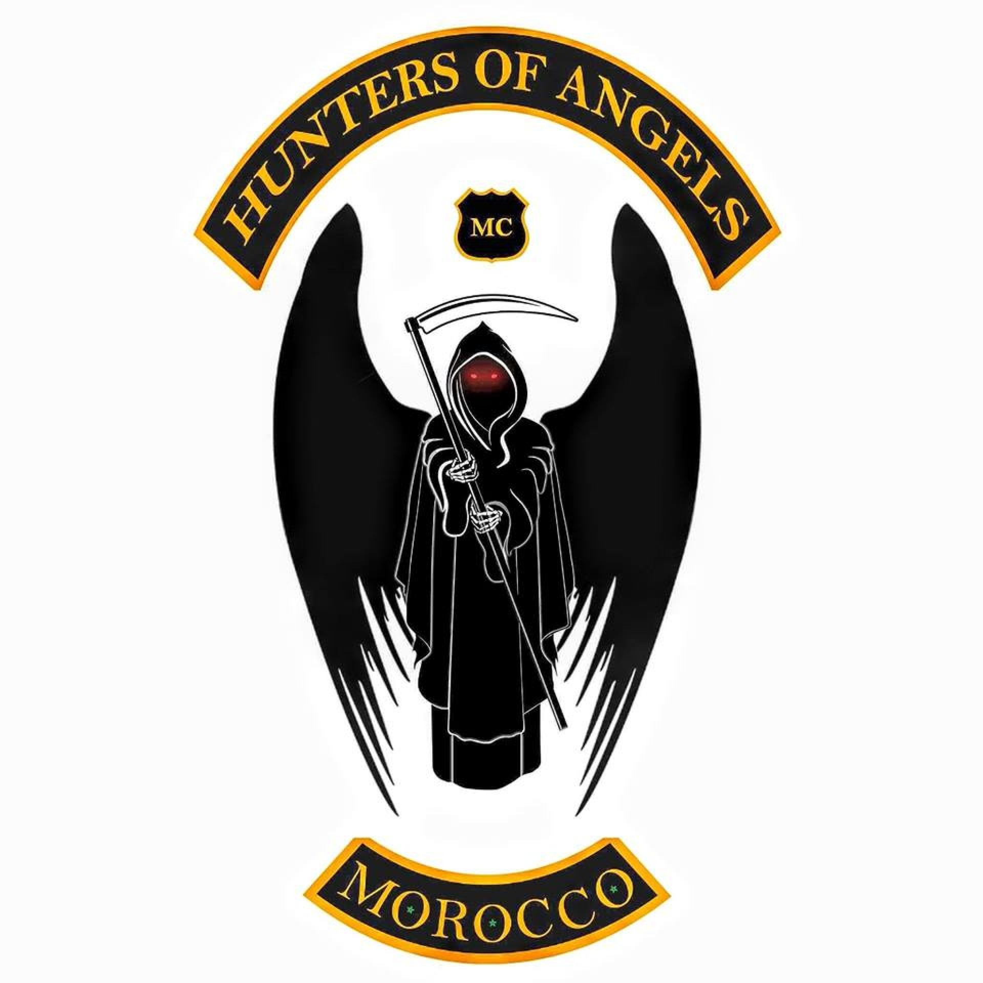 Hunters of angels Mc morocco  logo